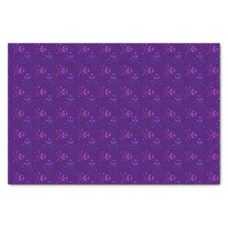Purple Skull and Crossbones Pattern Tissue Paper