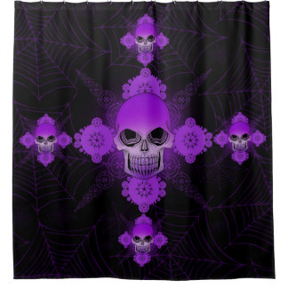 Purple Skull Cross Cobweb