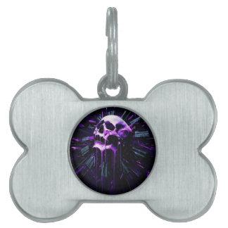 Purple Skull Pet Tag