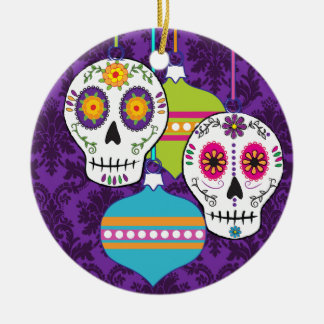 Purple Skulls Ornament