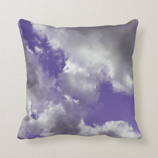 Purple Sky Clouds Throw Pillow