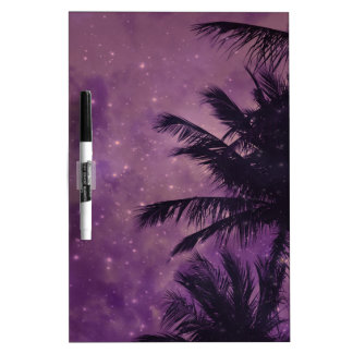 Purple Sky Palm Dry Erase Board