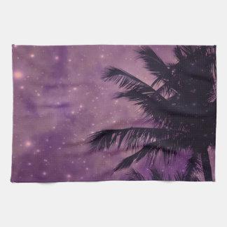 Purple Sky Palm Kitchen Towel
