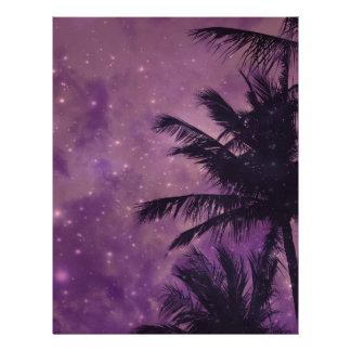Purple Sky Palm Letterhead