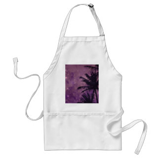 Purple Sky Palm Standard Apron