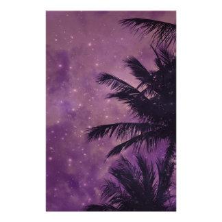 Purple Sky Palm Stationery