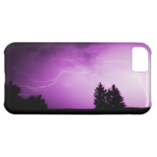 Purple Sky with Lightning iPhone 5C Cover