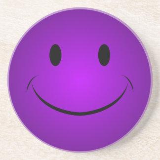 Purple Smiley Coaster