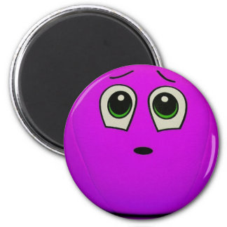 Purple Smiley Face Magnet