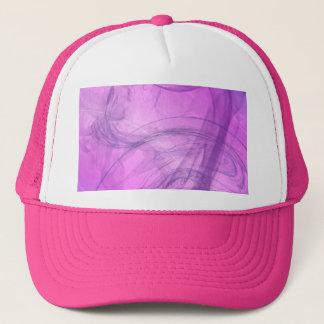 purple smoke trucker hat