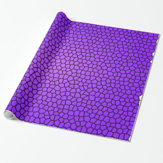 Purple Snake Print Wrapping Paper