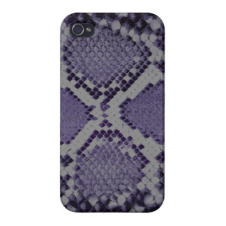Purple snake skin pattern cover for iPhone 4