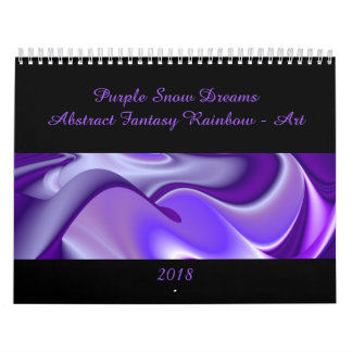 Purple Snow Dreams - Abstract Fantasy-Art Calendar