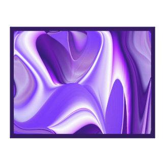 Purple Snow Dreams, Abstract Fantasy Rainbow Art Canvas Print
