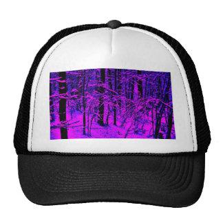 Purple Snow Trucker Hats