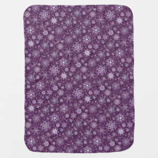 Purple Snowflakes for Chronic Pain Baby Blanket