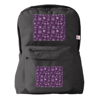 Purple Snowflakes for Chronic Pain Backpack