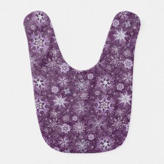 Purple Snowflakes for Chronic Pain Bib