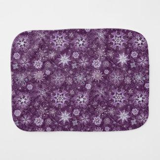 Purple Snowflakes for Chronic Pain Burp Cloth