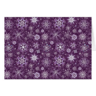 Purple Snowflakes for Chronic Pain Card
