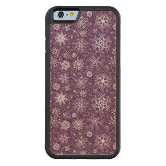 Purple Snowflakes for Chronic Pain Carved Maple iPhone 6 Bumper Case