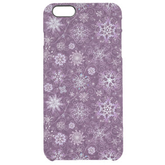 Purple Snowflakes for Chronic Pain Clear iPhone 6 Plus Case