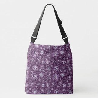 Purple Snowflakes for Chronic Pain Crossbody Bag