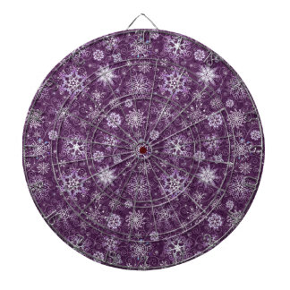 Purple Snowflakes for Chronic Pain Dart Boards