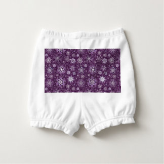 Purple Snowflakes for Chronic Pain Diaper Cover