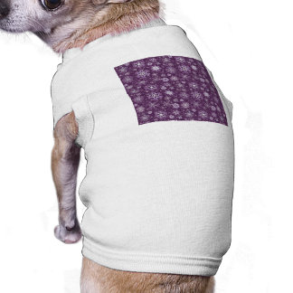 Purple Snowflakes for Chronic Pain Doggie Tee