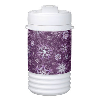 Purple Snowflakes for Chronic Pain Drinks Cooler