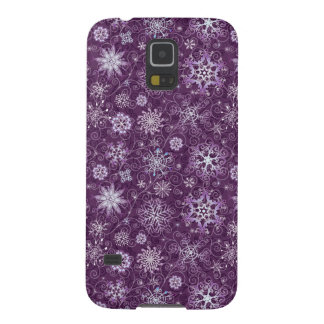 Purple Snowflakes for Chronic Pain Galaxy S5 Cover