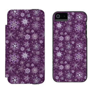 Purple Snowflakes for Chronic Pain Incipio Watson™ iPhone 5 Wallet Case