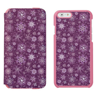 Purple Snowflakes for Chronic Pain Incipio Watson™ iPhone 6 Wallet Case