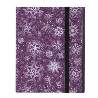 Purple Snowflakes for Chronic Pain iPad Cover