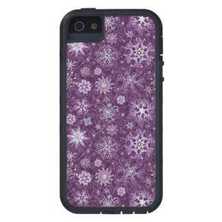 Purple Snowflakes for Chronic Pain iPhone 5 Cases
