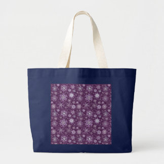 Purple Snowflakes for Chronic Pain Large Tote Bag