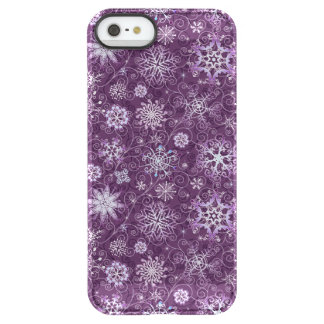 Purple Snowflakes for Chronic Pain Permafrost® iPhone SE/5/5s Case