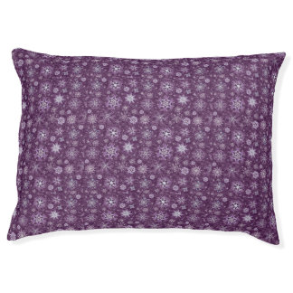 Purple Snowflakes for Chronic Pain Pet Bed
