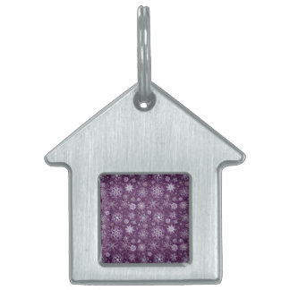 Purple Snowflakes for Chronic Pain Pet Tag