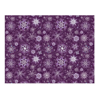 Purple Snowflakes for Chronic Pain Postcard