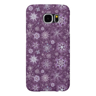 Purple Snowflakes for Chronic Pain Samsung Galaxy S6 Cases