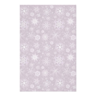 Purple Snowflakes for Chronic Pain Stationery Design