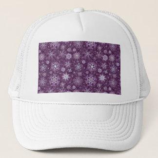 Purple Snowflakes for Chronic Pain Trucker Hat