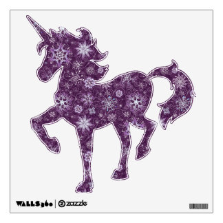 Purple Snowflakes for Chronic Pain Wall Decal