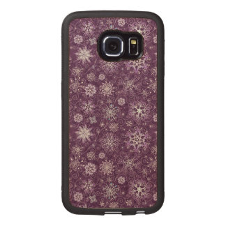 Purple Snowflakes for Chronic Pain Wood Phone Case
