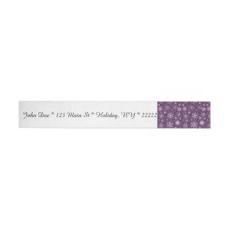Purple Snowflakes for Chronic Pain Wraparound Address Label