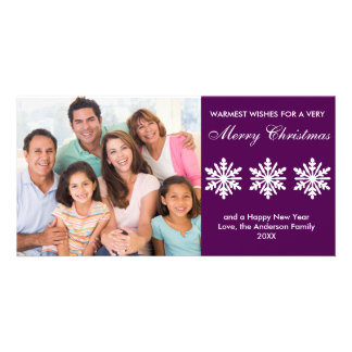 Purple Snowflakes - Photo Card