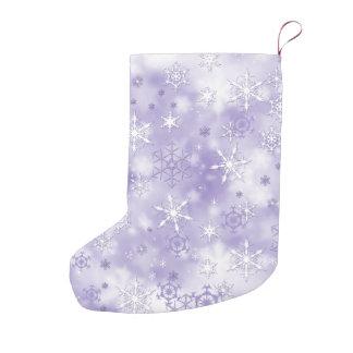 Purple Snowflakes Small Christmas Stocking