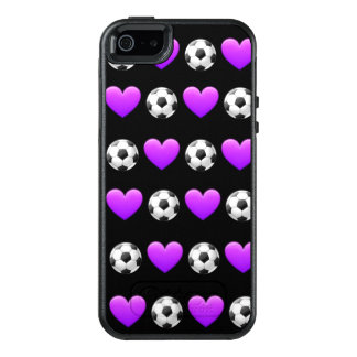 Purple Soccer Ball Otterbox Case iPhone SE/5